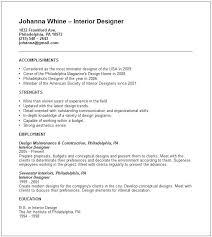 interior design internship resume examples u2013 inssite