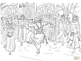 king david dancing ark covenant coloring