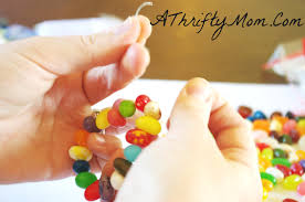 jelly bean bracelet edible crafts crafts for kids3 a thrifty