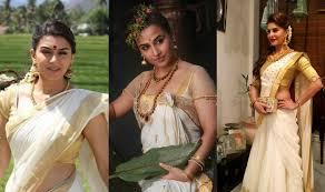 Drape A Sari Vishu 2017 3 Ways To Wear A Traditional Kerala Saree This Vishu
