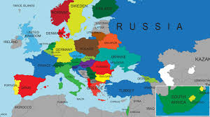 europe map in maps of europe map in political all countries