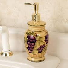 themed soap dispenser grapes kitchen lotion soap dispenser