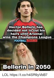 Hector Meme - hector bellerin has decided notto cut his hairs until arsenal wins