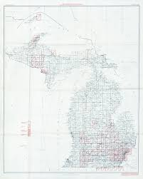 Map Of Michigan Lakes by Topographical Map Of Michigan Michigan Map