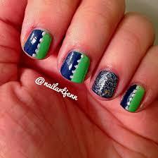 nail art jenn presents show your team spirit sports manicures