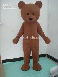Brown Bear Halloween Costume Brown Teddy Bear Mascot Costumes Halloween Cartoon Suit Fancy