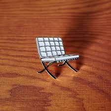 ludwig mies van der rohe barcelona chair mid mod enamel pin