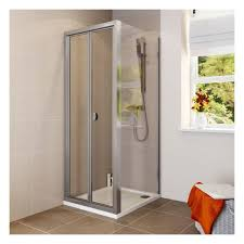 Shower Door 700mm 700mm X 700mm Bi Fold Shower Door Side Panel Tray