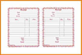 9 restaurant receipt templates restaurant receipt