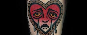 50 crying heart tattoo designs for men cool ink ideas