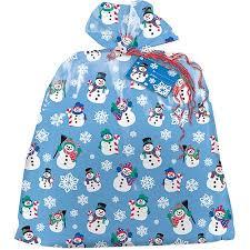 plastic jumbo snowman gift bag walmart
