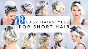 10 easy hairstyles for short hair with headband milabu youtube