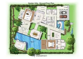 villa floor plan saisawan garden villas ground floor plan home building plans 27012