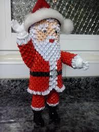 papa noel cute 3 d paper santa christmas paper crafts christmas