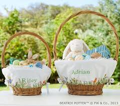 personalized easter basket liners pottery barn kids easter baskets and decor must haves for 2017