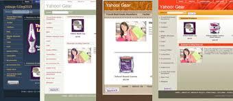 comparing yahoo web store development options default template