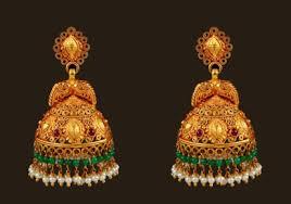 kerala earrings studded jhumka style earrings in maroon and green kerala