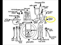 etiquette a formal dining place setting youtube