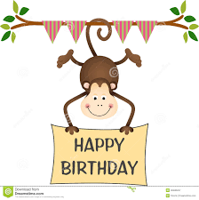 birthday monkey clipart clipartxtras
