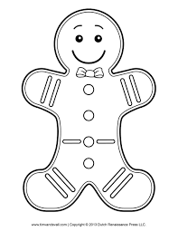 gingerbread man template clipart 5 gingerbread clip pinterest