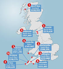 cheapest west coast cities the top 10 places in britain where house hunters would like to