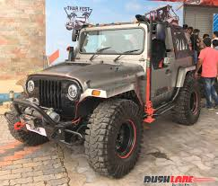 modified mahindra jeep for sale in kerala mahindra thar daybreak edition with hard top unveiled at surat