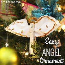 Christmas Ornaments Crafts For Preschoolers by Easy Christmas Angel Ornament Craft Pre K Pages
