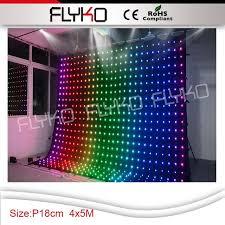 disco rental p18 4x5m led rental stage led curtain backdrop