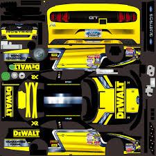 dewalt xfinity ford mustang custom paint scheme by jose m