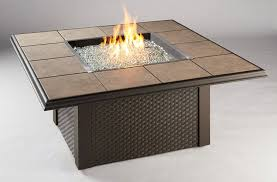 valley square fire pit table black or brown