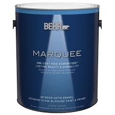 behr marquee 1 gal ultra pure white satin enamel one coat hide