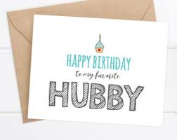 hubby birthday card etsy