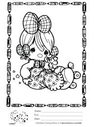 kids coloring precious moments baby coloring sheet