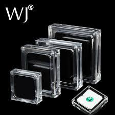 necklace display case images Acrylic glass top gem box white black showcase gemstone casket jpg