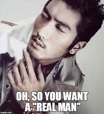 A Real Man Meme - meme project asian american pop culture