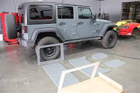 jeep half hardtop sounds of silence quieting the interior of a jk with boom mat