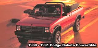 1989 dodge dakota sport convertible dodge dakota convertible truck information