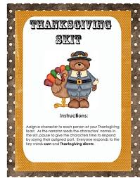 The Meaning Of Thanksgiving Day Printable Thanksgiving Skit Perfect For Thanksgiving Day