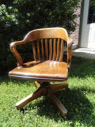 antique oak desk chair swivel rock roll vintage by backofbeyond 75 00