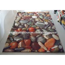 Pebble Area Rug China Acrylic Digital Print Colorful Area Rug On Global Sources