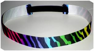 headband elastic elastic stretchy ribbon headband rainbow zebra jlribbongear on