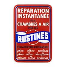 rustine chambre à air plaque de garage métal rustines