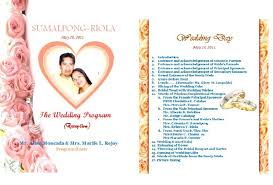 Example Of Wedding Programs Sample Of Wedding Invitation With Entourage Tags Sample Of
