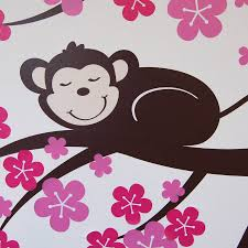 monkey blossom tree wall stickers by parkins interiors monkey blossom tree wall stickers