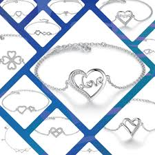 sterling silver crystal heart bracelet images Sterling silver crystal heart bracelet c b jewelery 1&amp