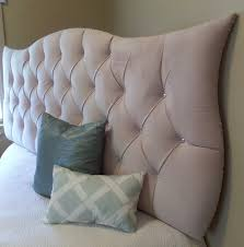 Wall Hung Headboard by Cream Ivory Neutral Tufted Upholstered Headboard With Crystal