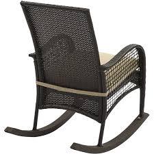 Mainstays Rocking Chair Mainstays All Weather Woven Rocker Walmart Com