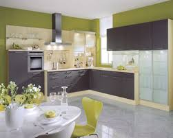 Kitchen Color Idea Enchanting Green Kitchen Color Idea For Small Feat Dining Set And