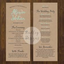 kraft paper wedding programs hadley designs programs