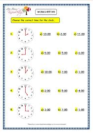 grade 3 maths worksheets 8 1 telling the time in exact hours